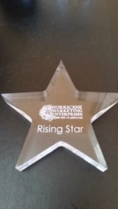 "Home Care Lexington NC - Tenderhearted Home Care was Presented with a ""Rising Star"" Award"