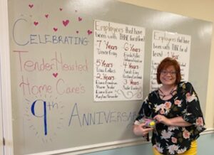 Owner and founder, Renee Gray, celebrating 9 years of service to the community