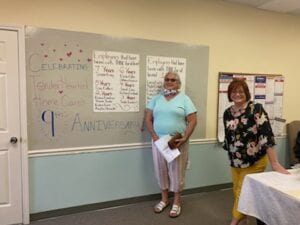 Caregiver, Frieda, celebrating 6 years of service