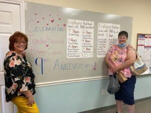 Caregiver, Sarah, celebrating 4 years of service