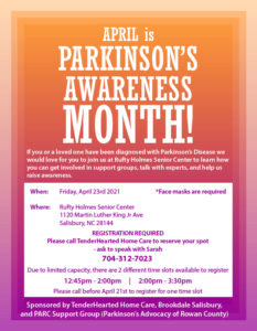 Parkinsons Awareness Flyer