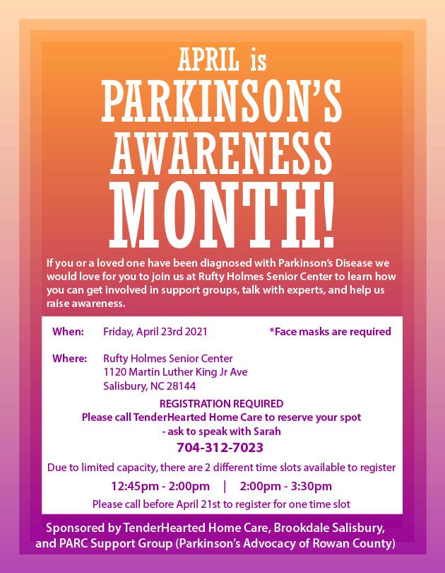Parkinsons Awareness Flyer